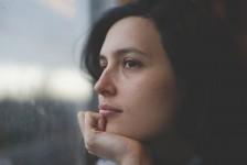 Woman pensive
